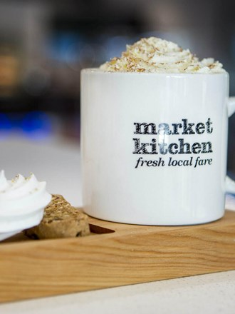 Delicious coffee and pastry from Market Kitchen Cafe.