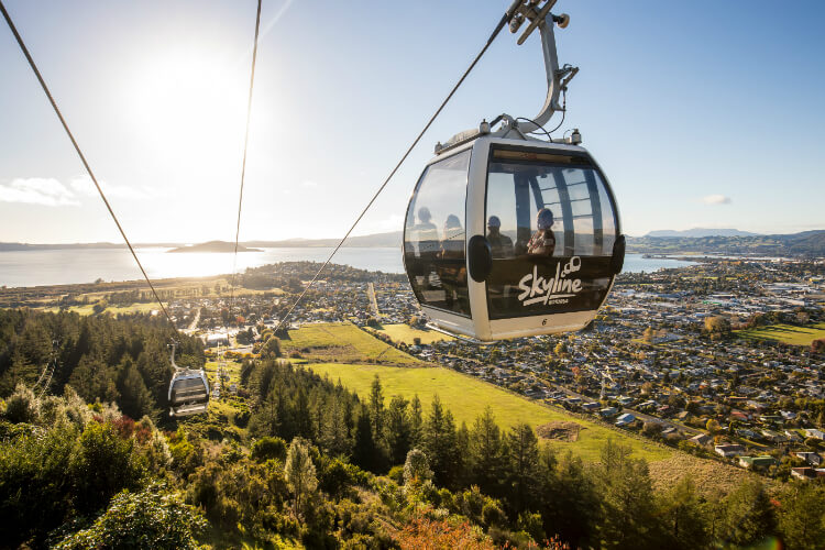Gondola Cabin Ascends Mt Ngongotaha To The Skyline Rotorua Complex